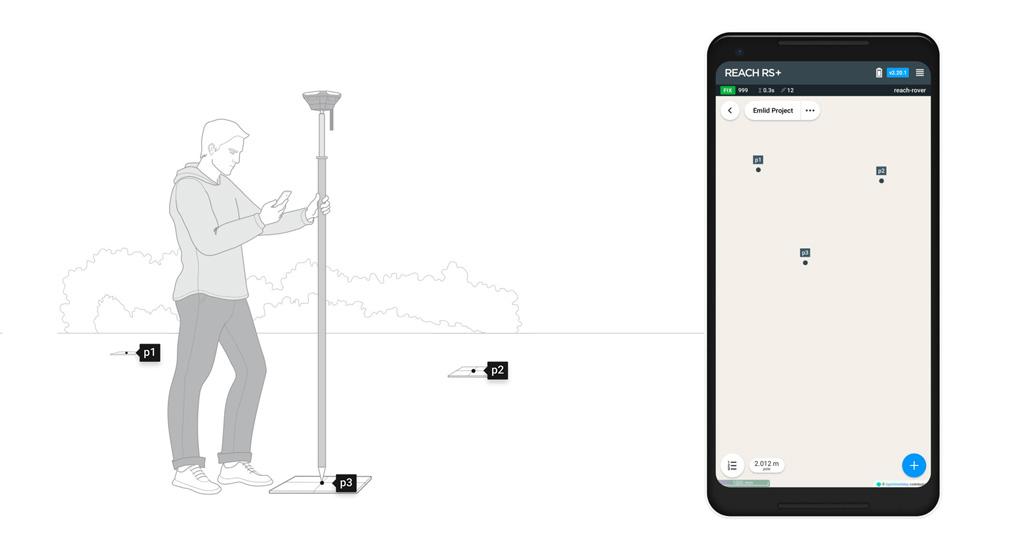 récepteur GNSS pour la cartographie